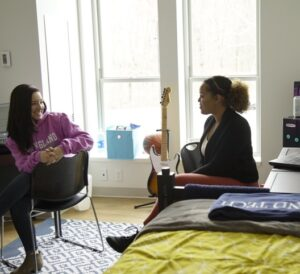 two students in residence